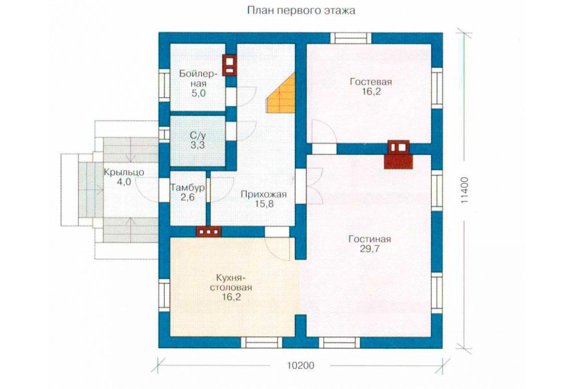 План N2 проекта дома из СИП-панелей АСД-1270