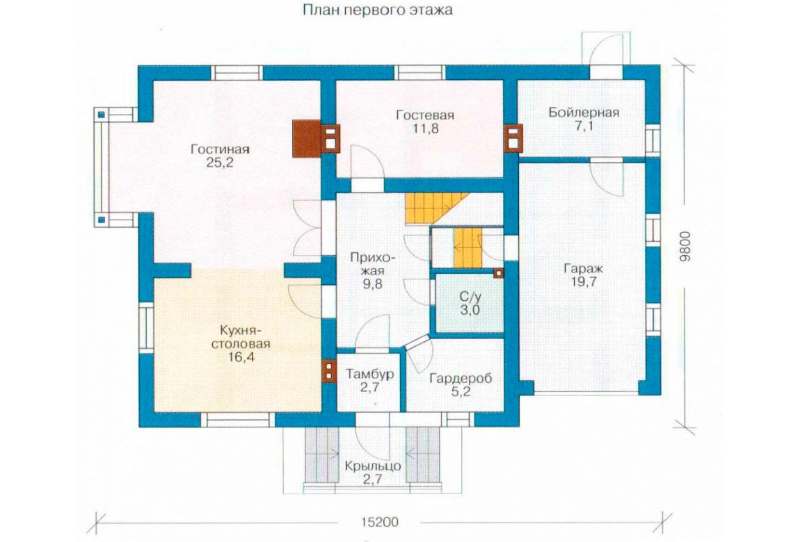 План N1 проекта дома из СИП-панелей АСД-1271