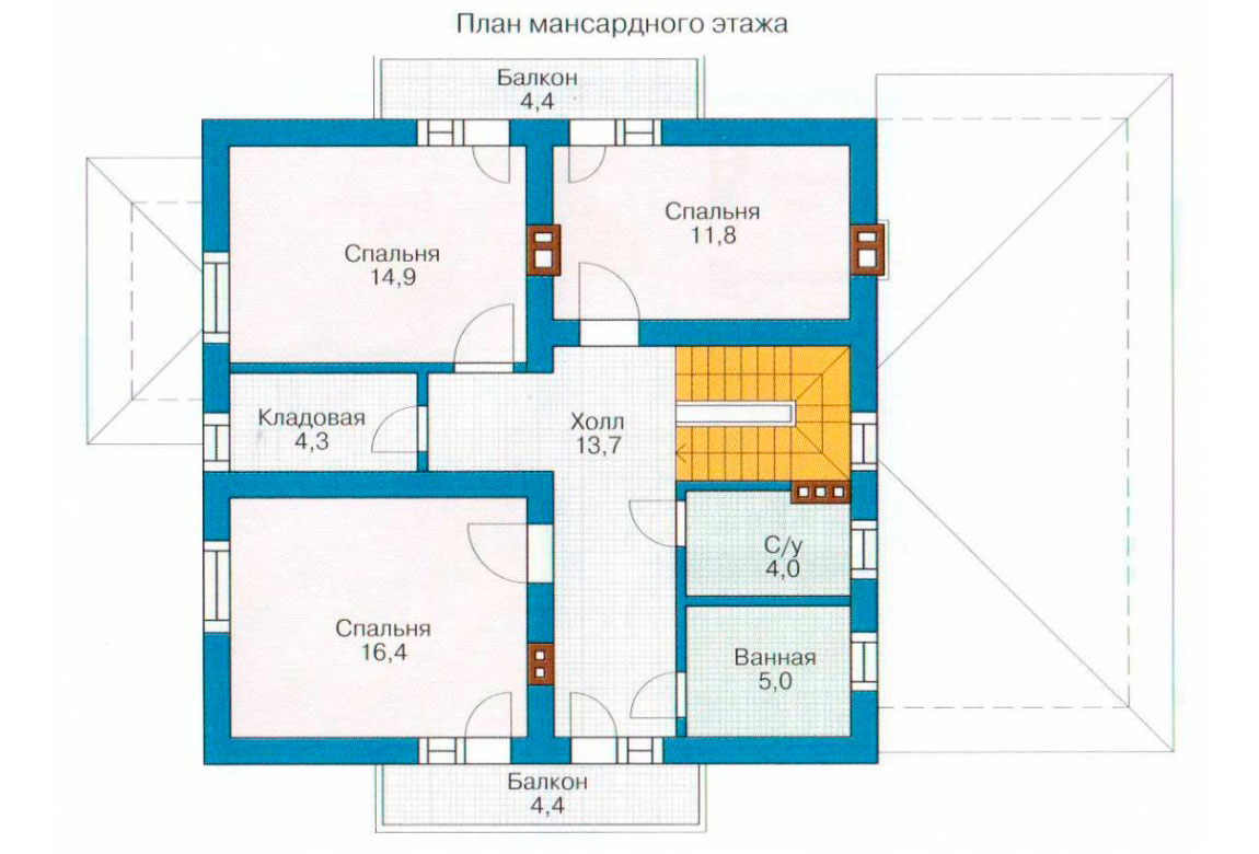 План N2 проекта дома из СИП-панелей АСД-1271