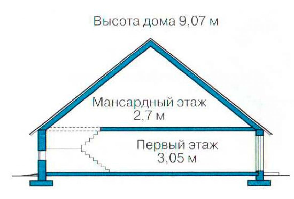 План N3 проекта дома из СИП-панелей АСД-1271