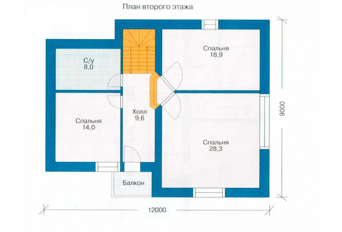 План N1 проекта дома из СИП-панелей АСД-1273