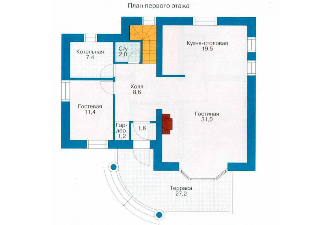 План N2 проекта дома из СИП-панелей АСД-1273