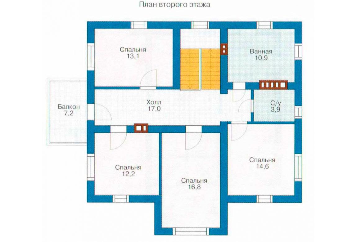План N1 проекта дома из СИП-панелей АСД-1274