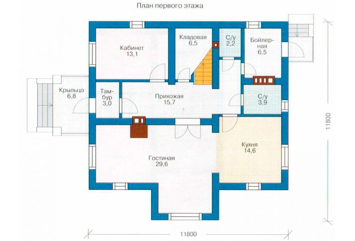 План N2 проекта дома из СИП-панелей АСД-1274