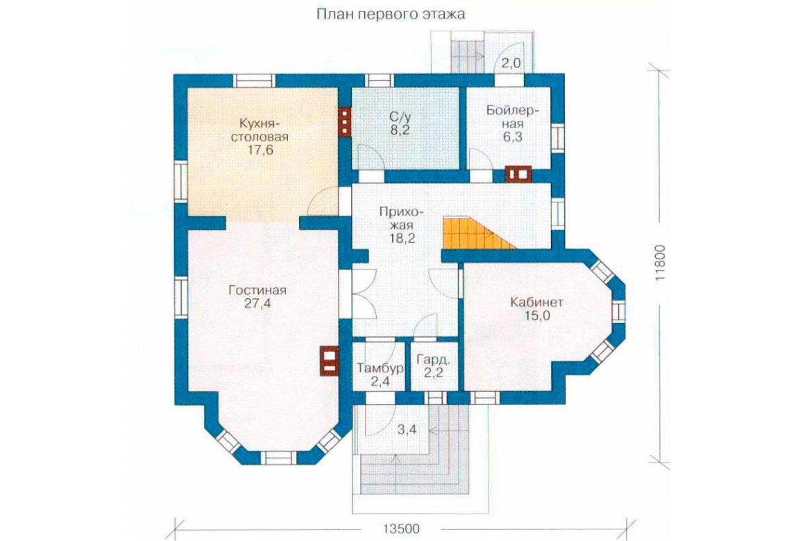План N1 проекта дома из СИП-панелей АСД-1275