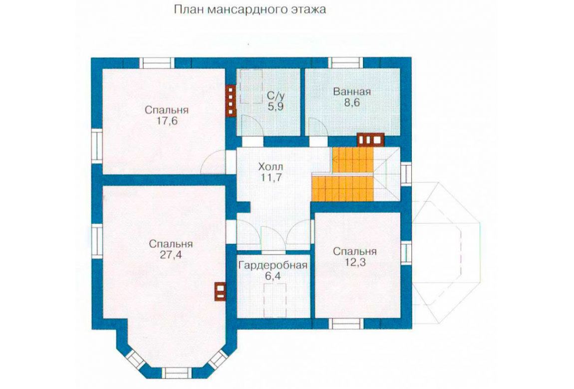 План N2 проекта дома из СИП-панелей АСД-1275