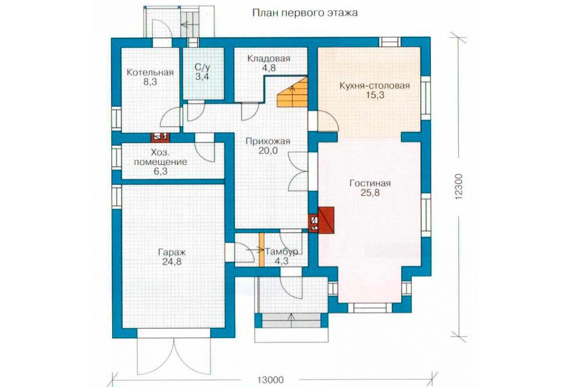 План N1 проекта дома из СИП-панелей АСД-1276