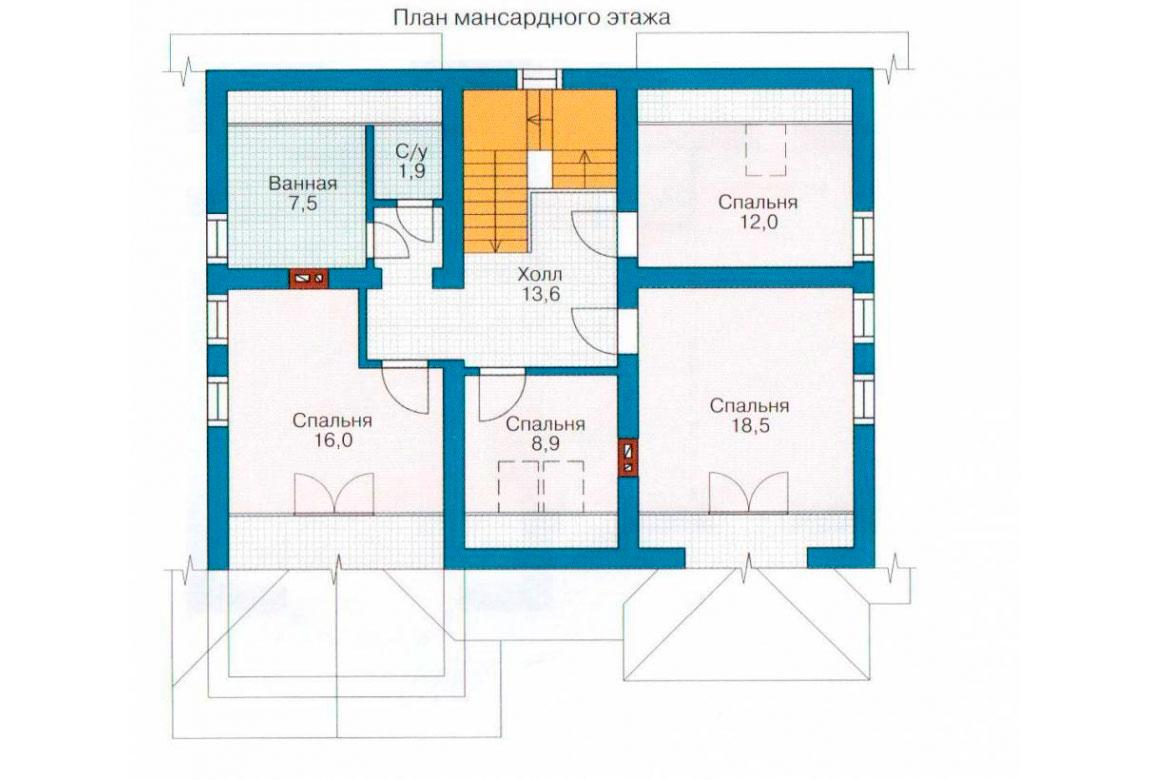 План N2 проекта дома из СИП-панелей АСД-1276