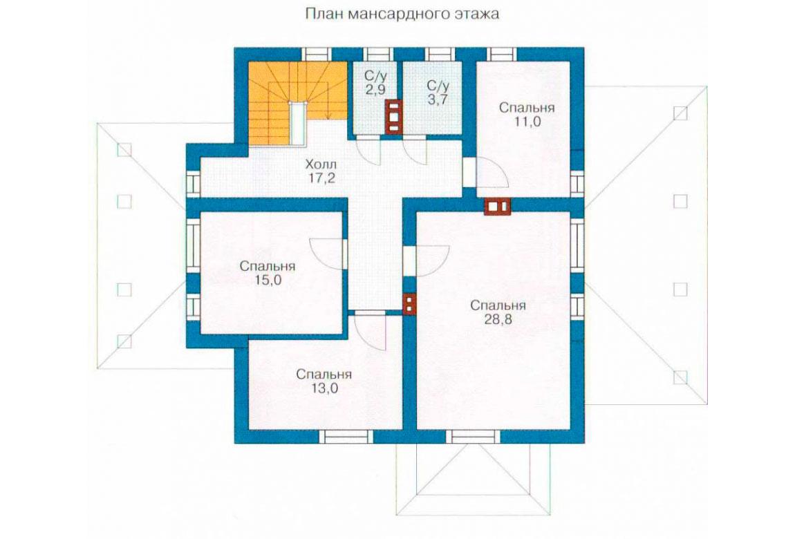 План N1 проекта дома из СИП-панелей АСД-1277