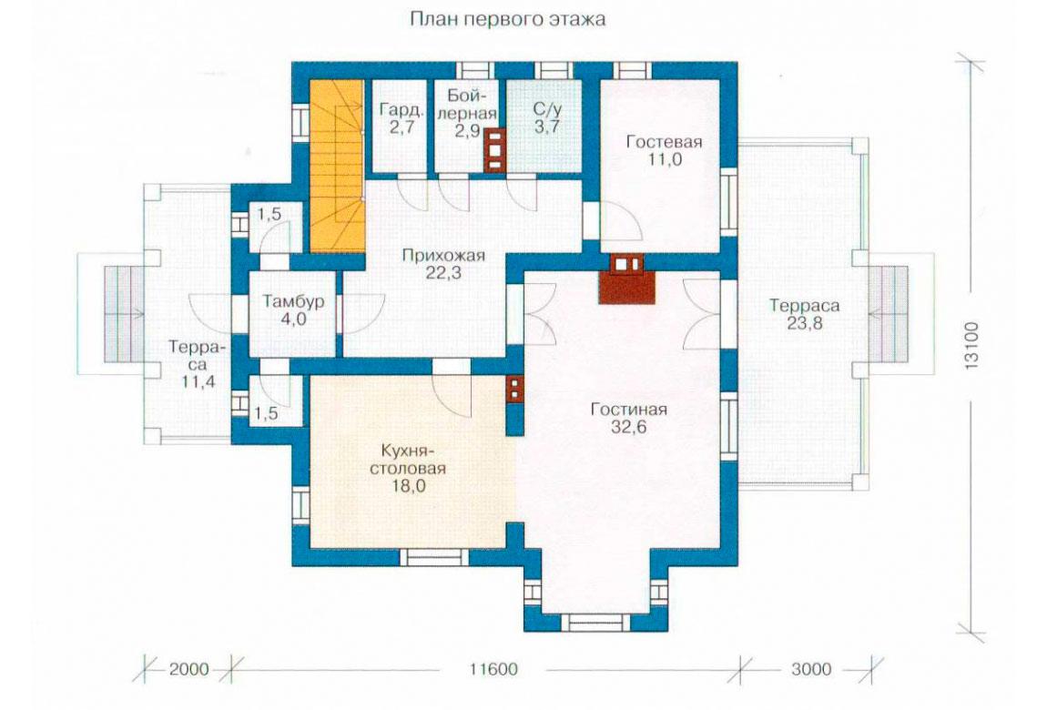 План N2 проекта дома из СИП-панелей АСД-1277