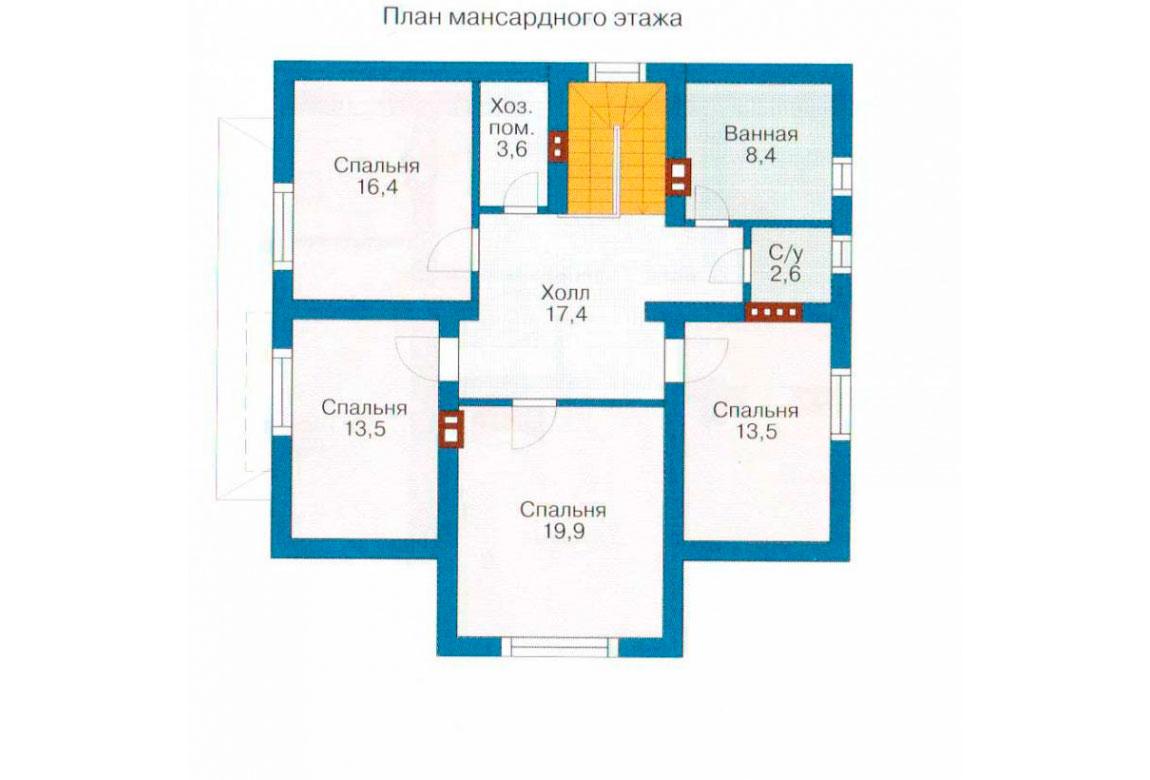 План N1 проекта дома из СИП-панелей АСД-1278