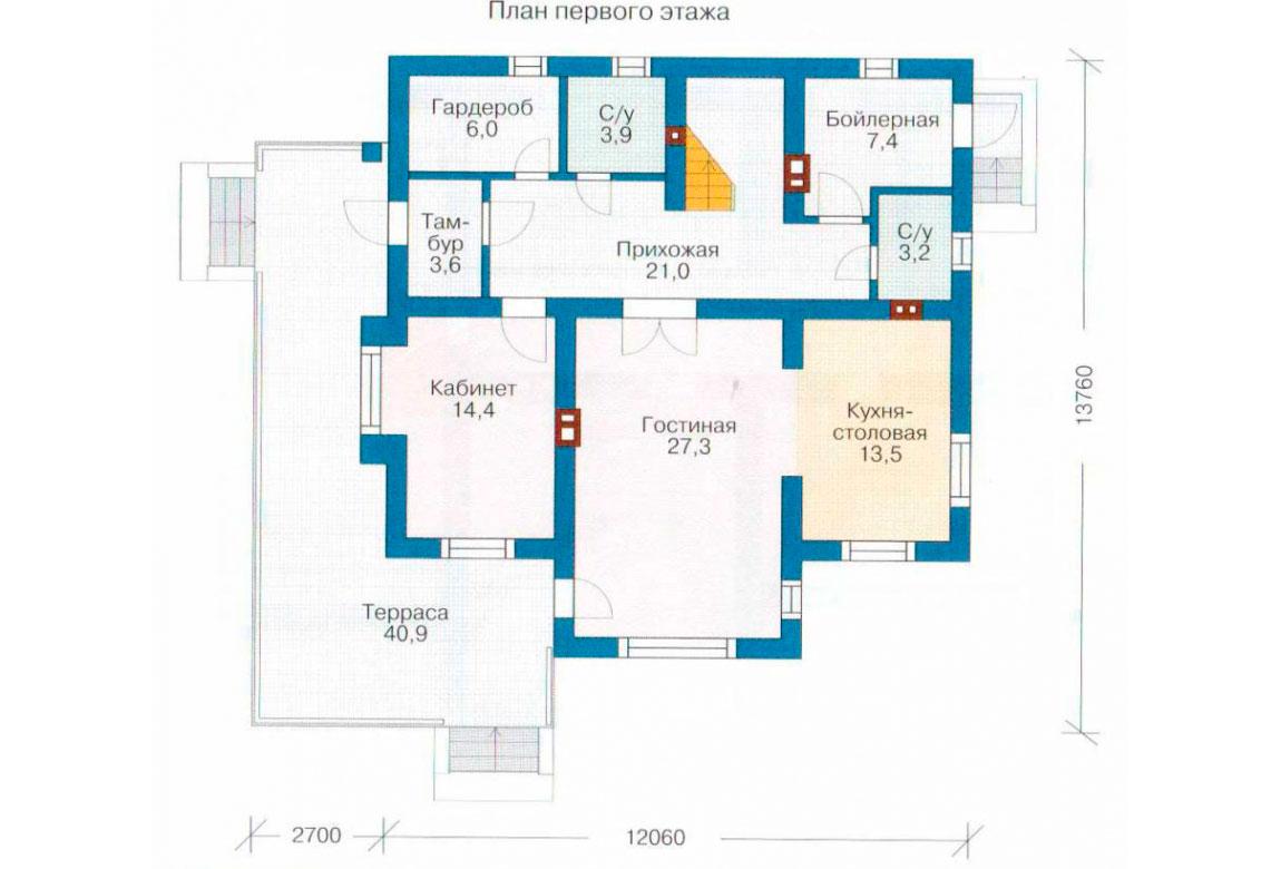 План N2 проекта дома из СИП-панелей АСД-1278
