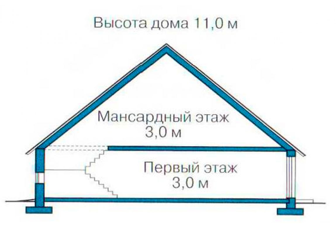 План N3 проекта дома из СИП-панелей АСД-1278