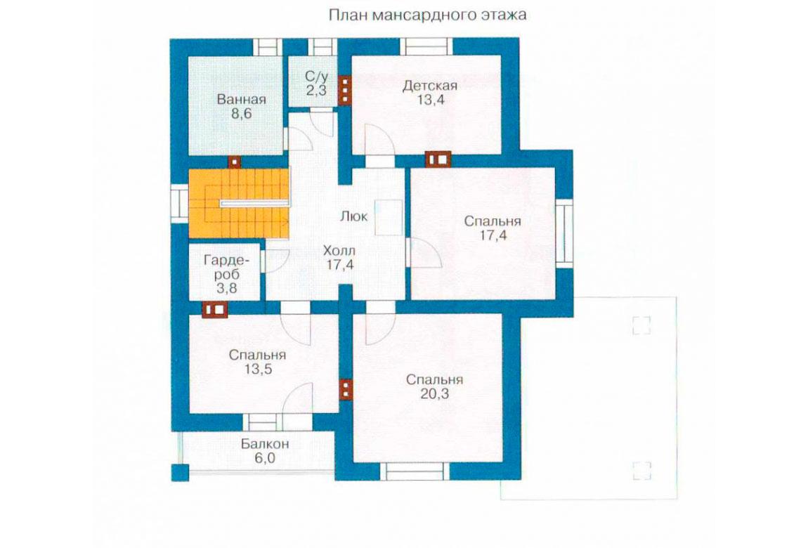 План N1 проекта дома из СИП-панелей АСД-1279