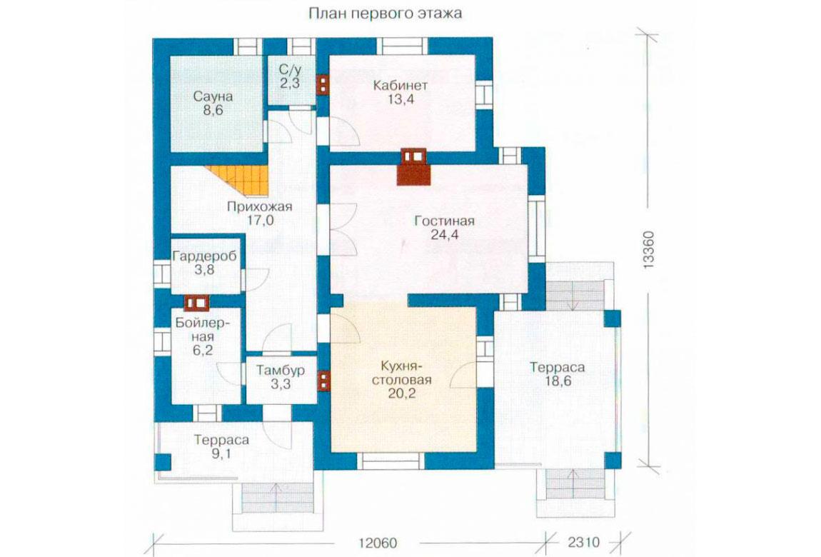 План N2 проекта дома из СИП-панелей АСД-1279