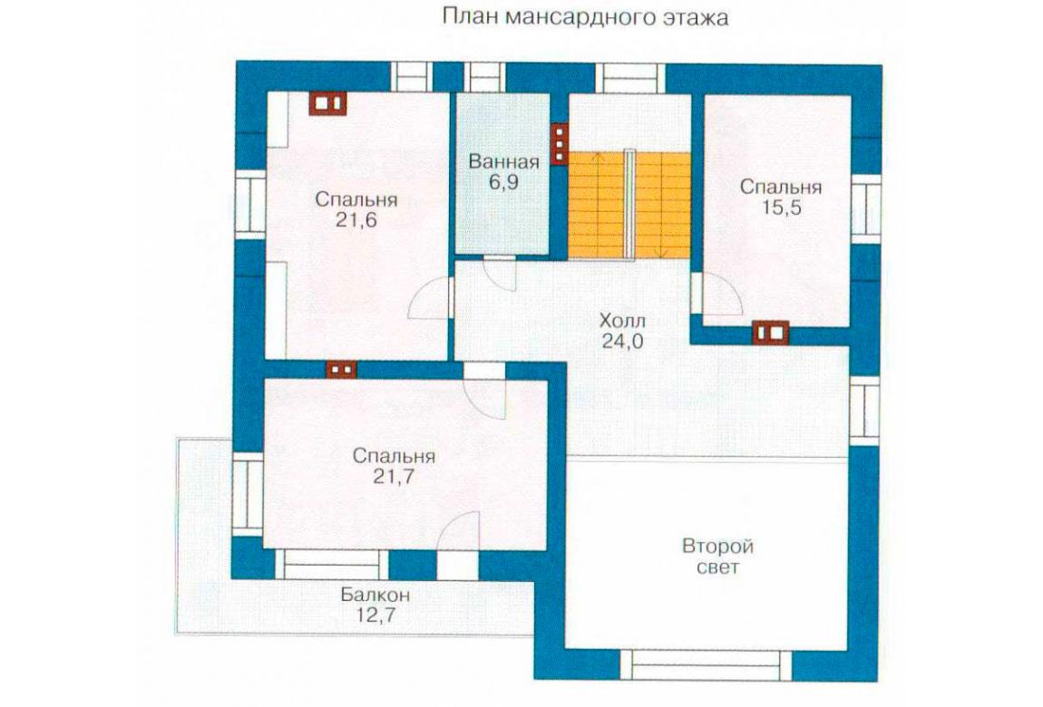 План N1 проекта кирпичного дома АСД-1028