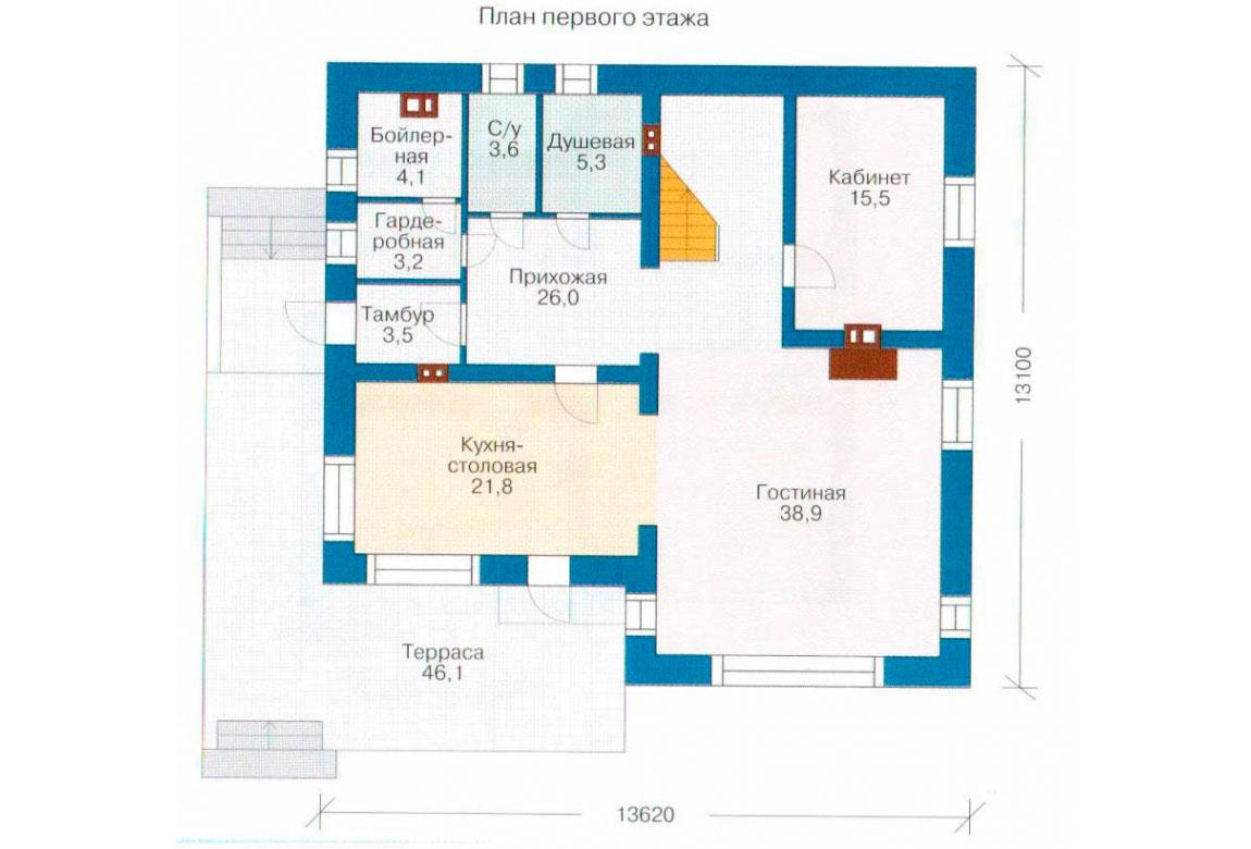 План N2 проекта кирпичного дома АСД-1028