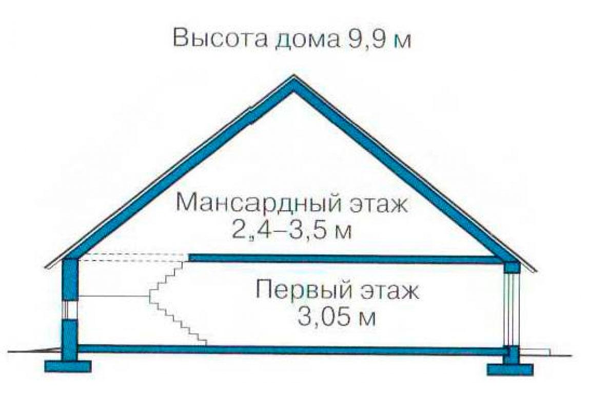 План N3 проекта кирпичного дома АСД-1028