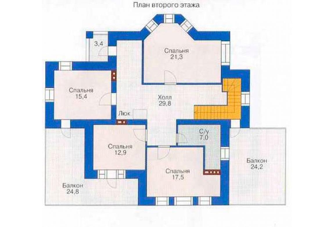 План N1 проекта дома из СИП-панелей АСД-1280