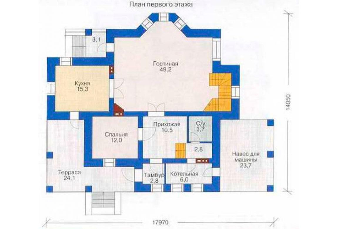 План N2 проекта дома из СИП-панелей АСД-1280