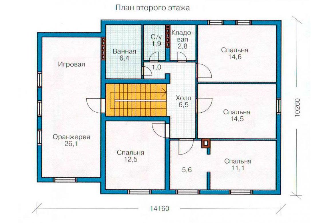 План N1 проекта дома из СИП-панелей АСД-1281
