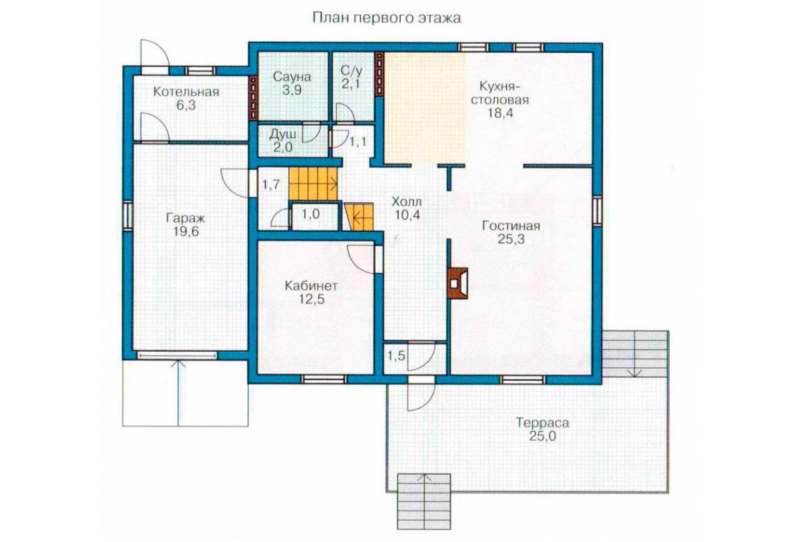 План N2 проекта дома из СИП-панелей АСД-1281