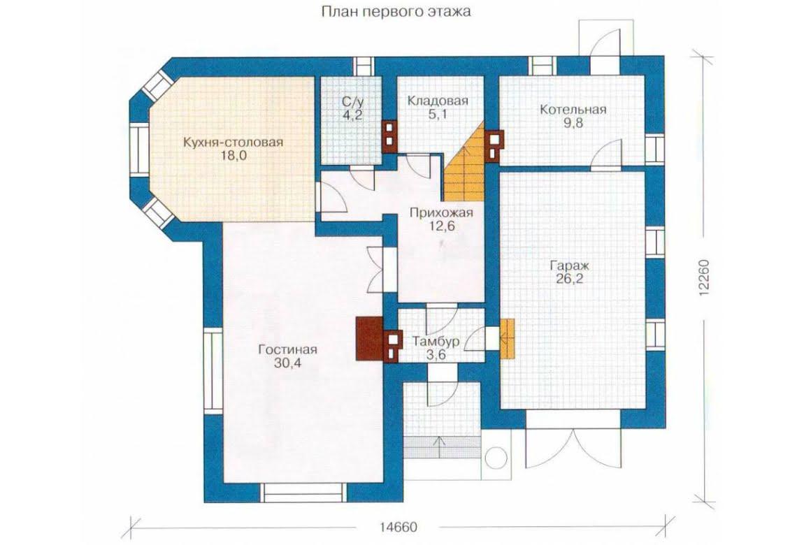 План N2 проекта дома из СИП-панелей АСД-1282