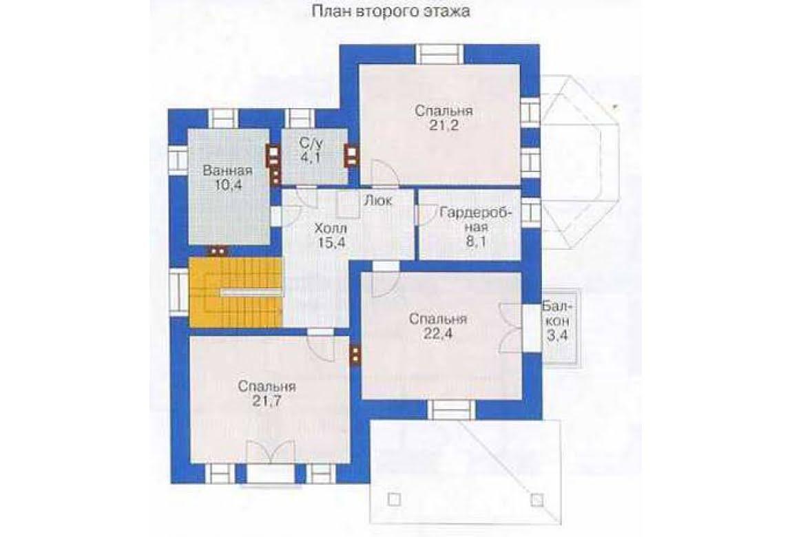 План N2 проекта дома из СИП-панелей АСД-1283