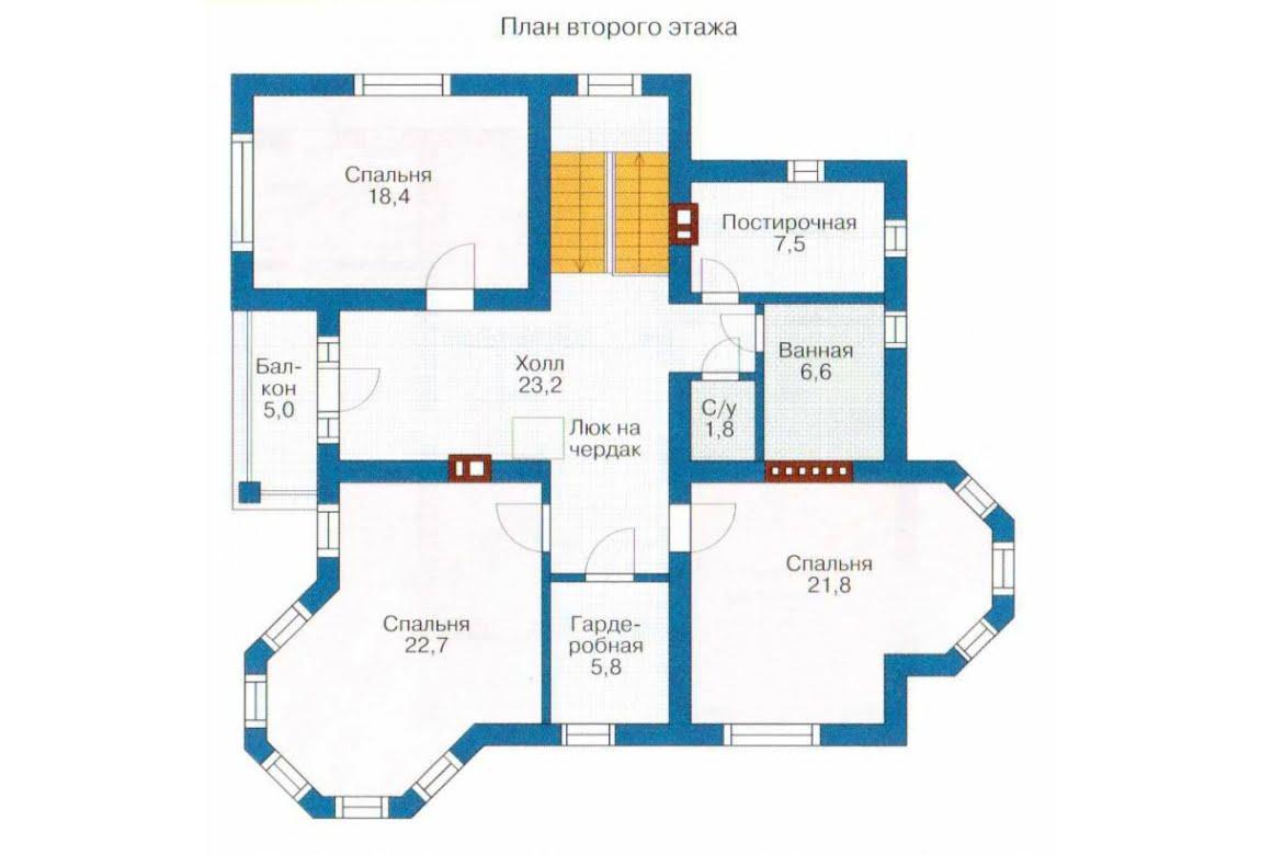 План N1 проекта дома из СИП-панелей АСД-1284