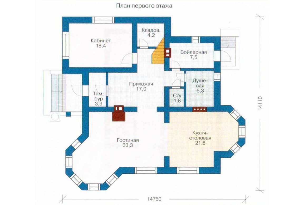 План N2 проекта дома из СИП-панелей АСД-1284