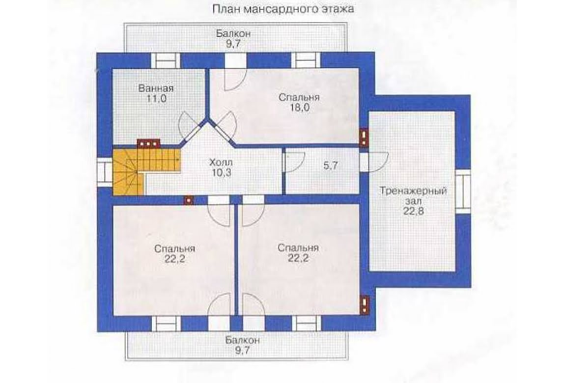 План N1 проекта дома из СИП-панелей АСД-1285