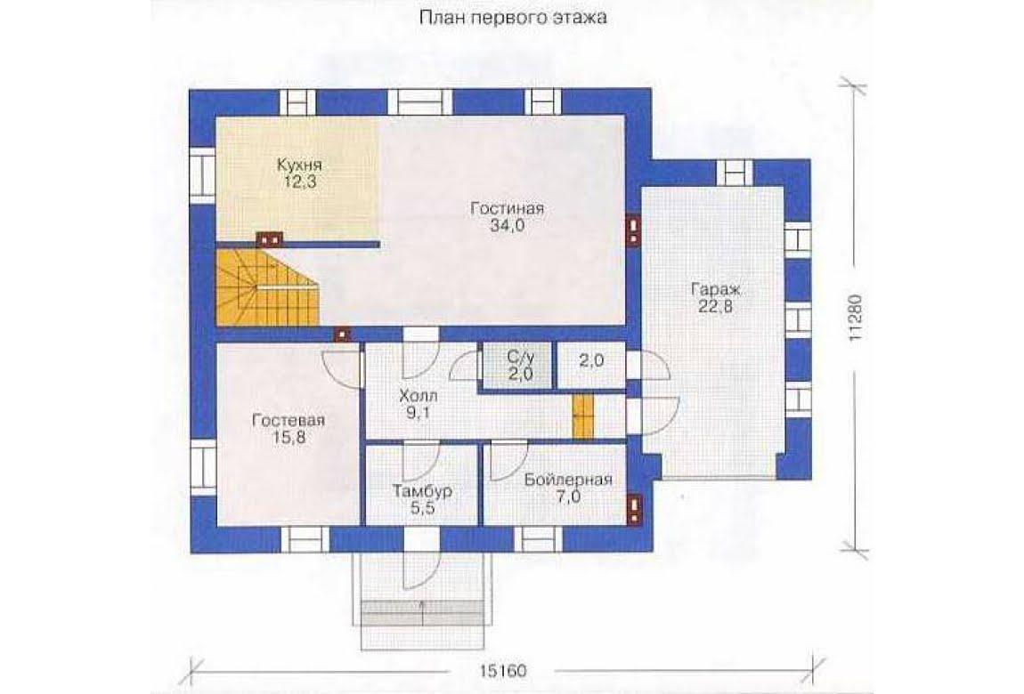 План N2 проекта дома из СИП-панелей АСД-1285
