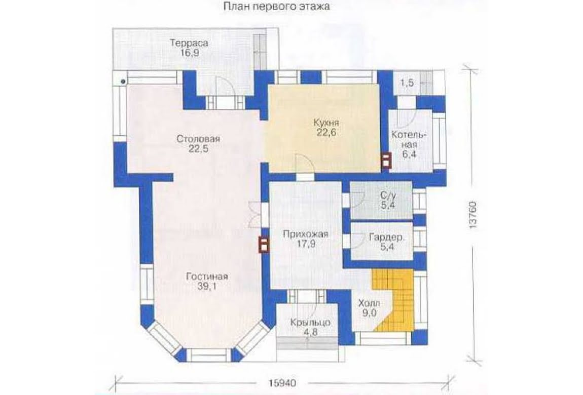 План N1 проекта дома из СИП-панелей АСД-1286