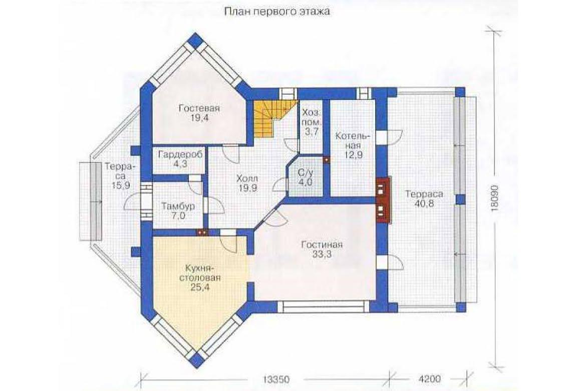 План N1 проекта дома из СИП-панелей АСД-1288