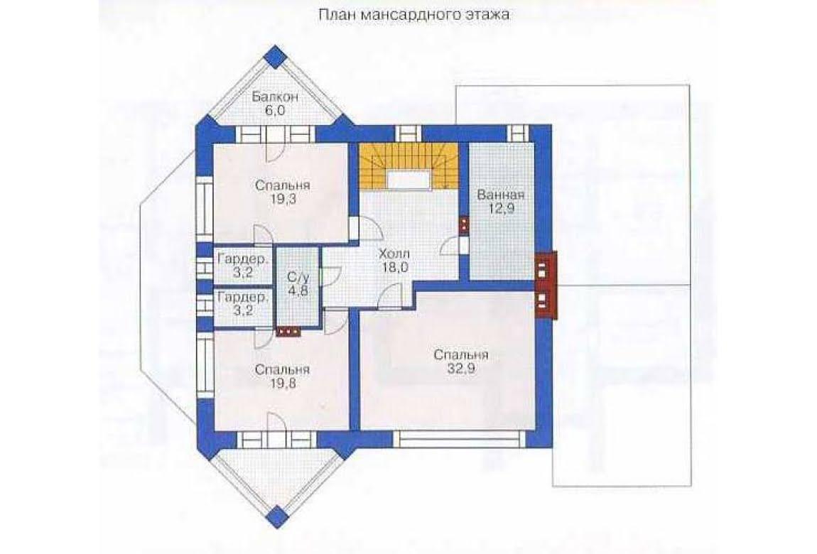 План N2 проекта дома из СИП-панелей АСД-1288