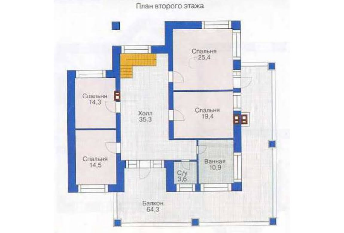План N1 проекта дома из СИП-панелей АСД-1289