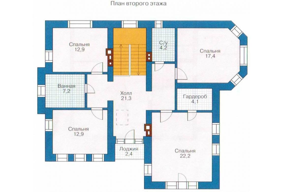 План N2 проекта кирпичного дома АСД-1029