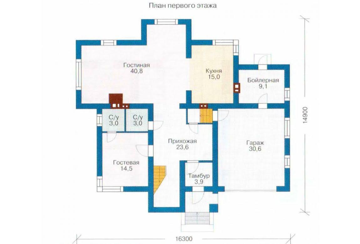 План N1 проекта дома из СИП-панелей АСД-1290