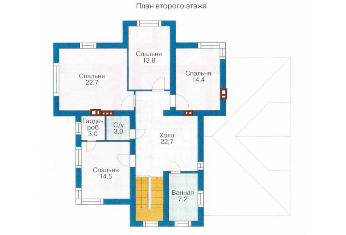 План N2 проекта дома из СИП-панелей АСД-1290