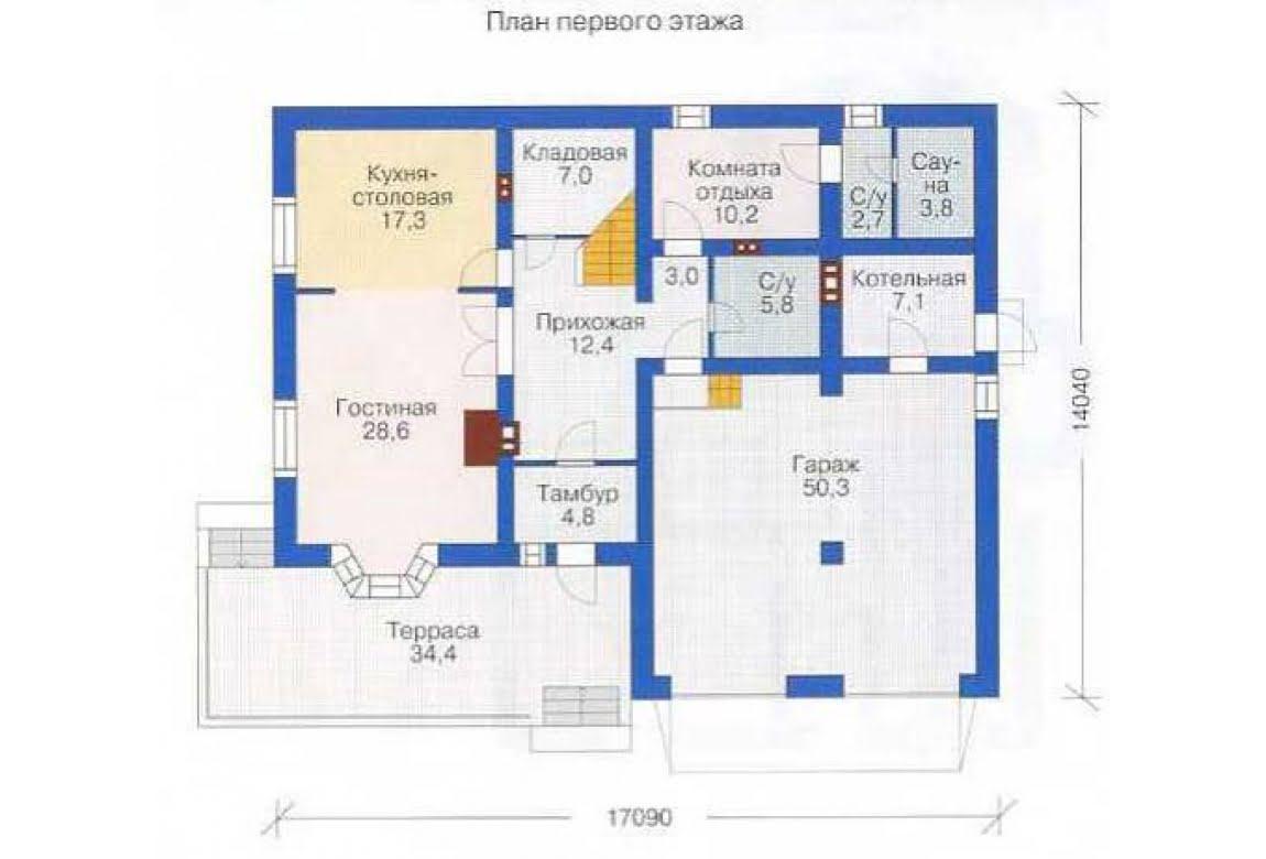 План N1 проекта дома из СИП-панелей АСД-1291