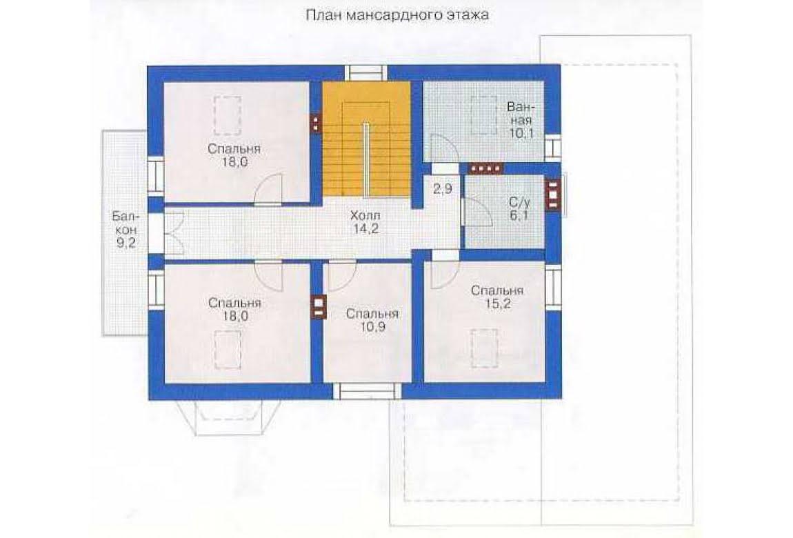 План N2 проекта дома из СИП-панелей АСД-1291