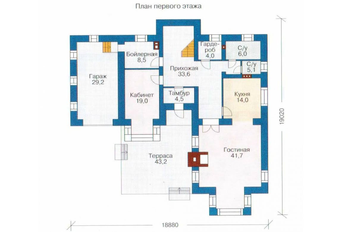 План N1 проекта дома из СИП-панелей АСД-1292