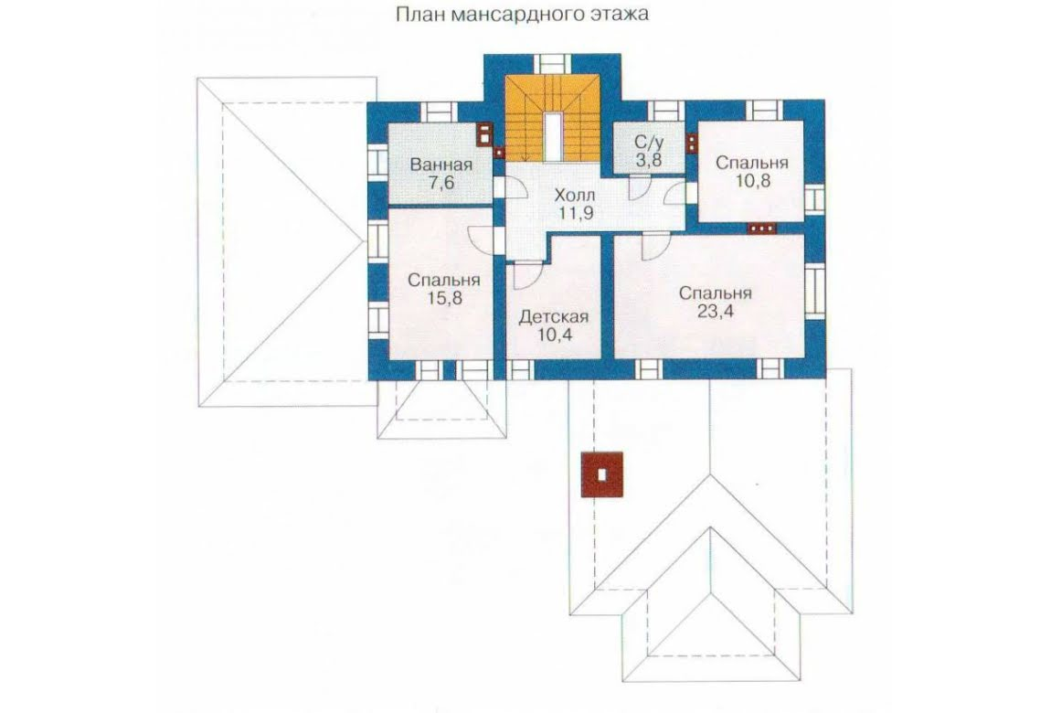 План N2 проекта дома из СИП-панелей АСД-1292