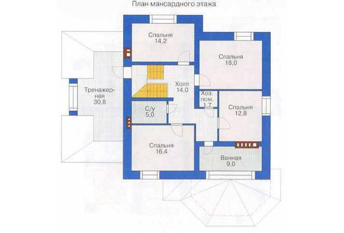 План N1 проекта дома из СИП-панелей АСД-1293