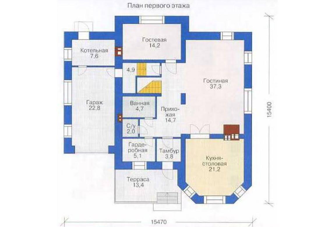 План N2 проекта дома из СИП-панелей АСД-1293