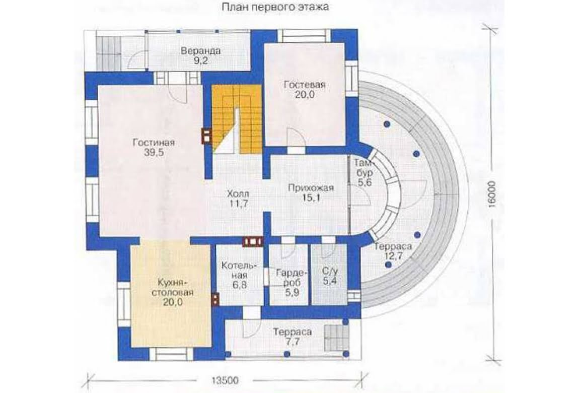 План N1 проекта дома из СИП-панелей АСД-1294