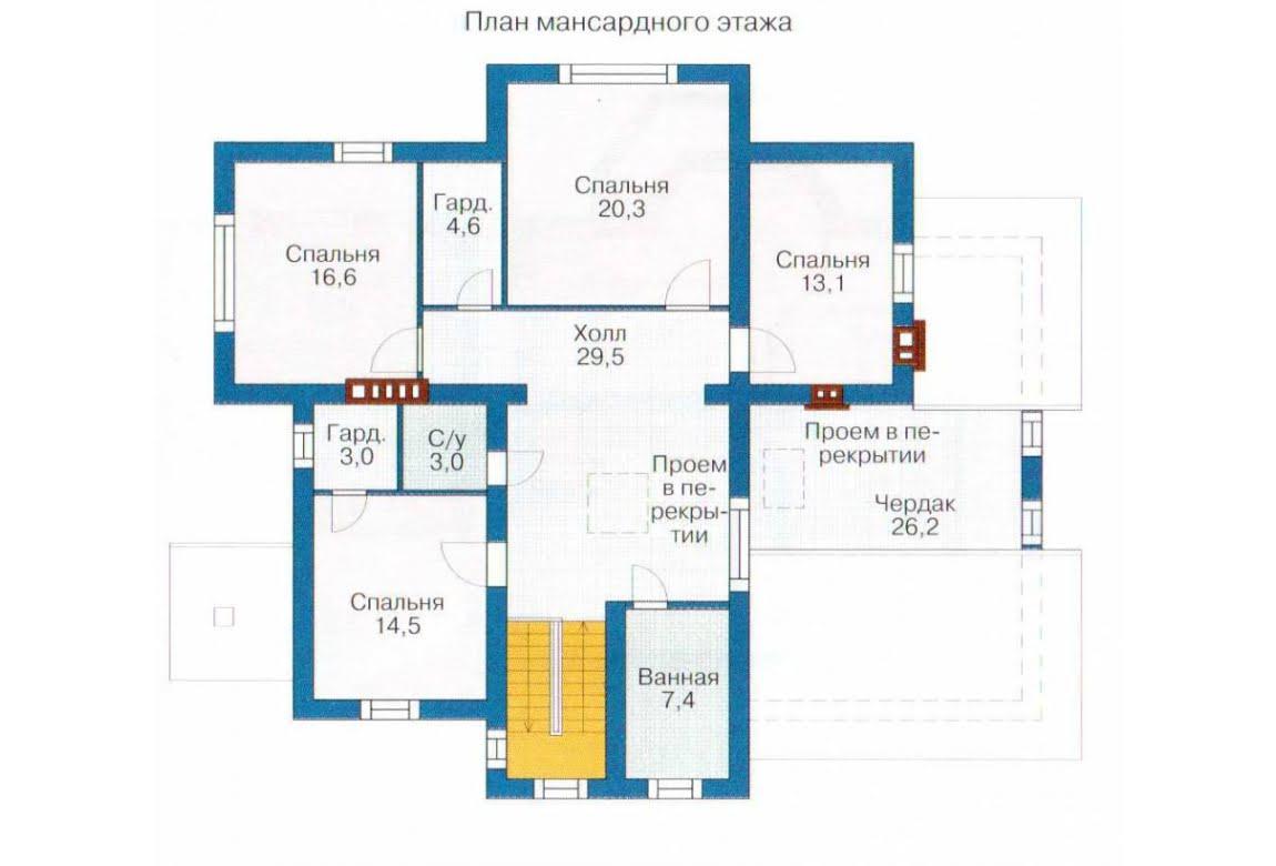 План N2 проекта дома из СИП-панелей АСД-1295