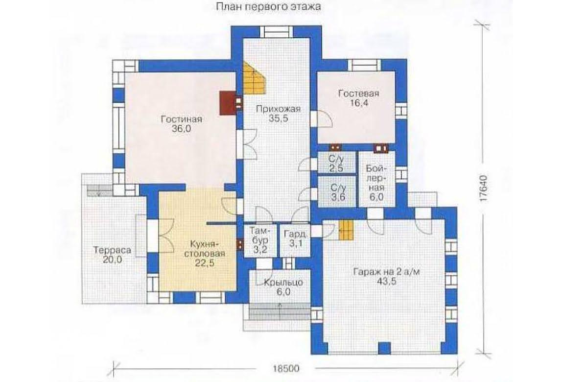 План N1 проекта дома из СИП-панелей АСД-1297
