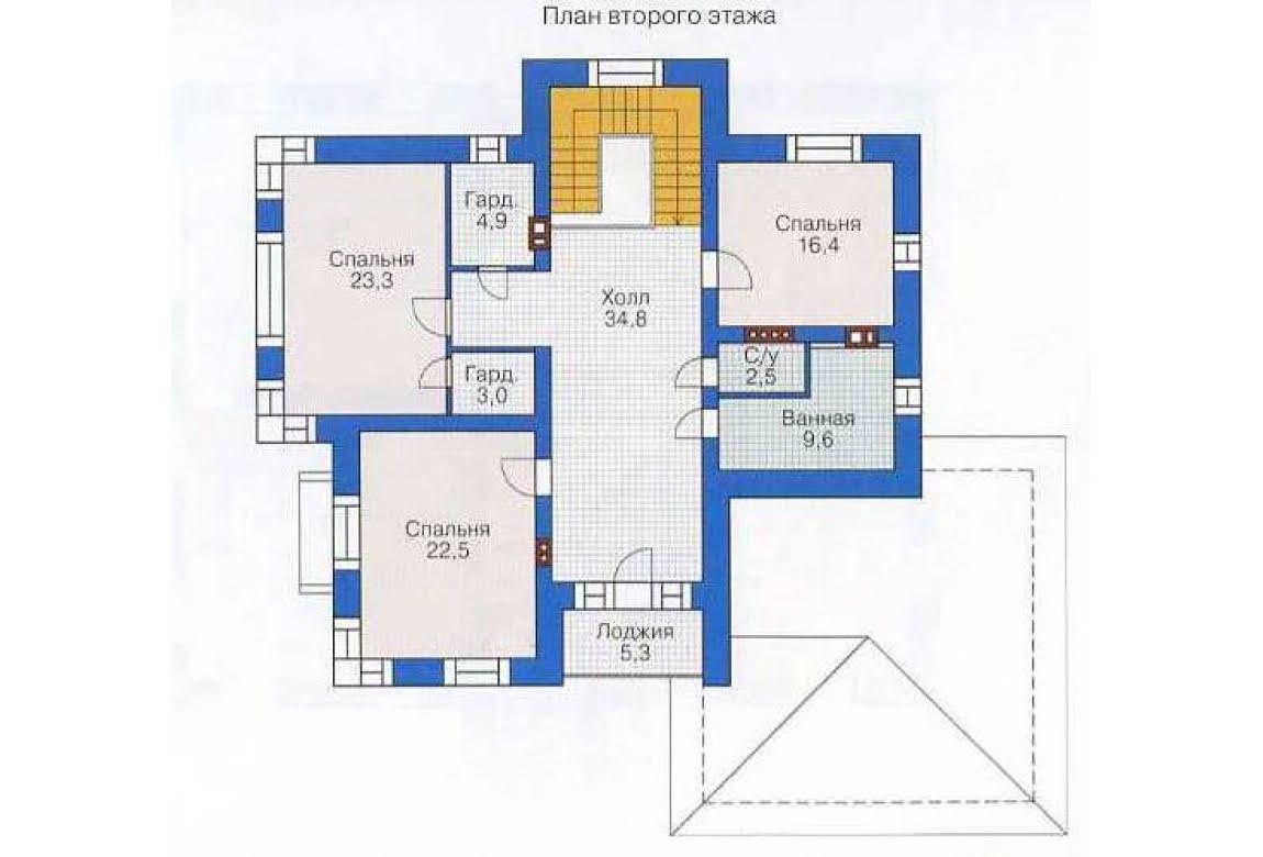 План N2 проекта дома из СИП-панелей АСД-1297