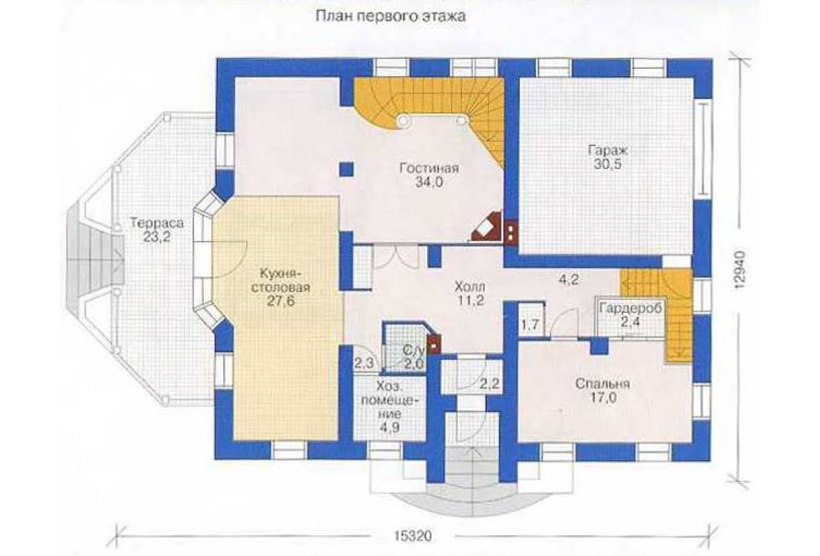 План N2 проекта дома из СИП-панелей АСД-1298